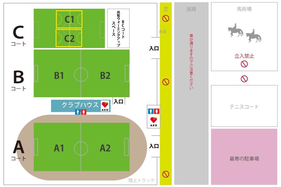 金沢大学SOLTILO FIELD | ソルティーロフィールドの施設MAP